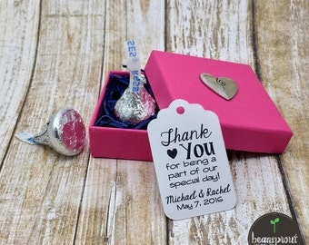 Thank You Tag - Wedding Favor Tag - Engagement Party - Bridal Shower Favor Tag - Party Favor Tag - Gift Tag - Personalized Favor Tag