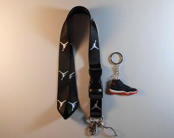 Jordan lanyard with Jordan keychain