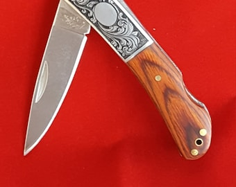 Spyderco Byrd Folding Knife Hand Engraved By