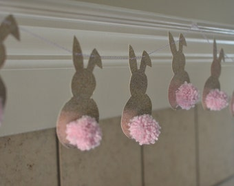 Easter Pom Pom Garland- Four Ft. Long