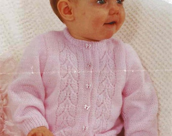 PDF Knitting Pattern- Girls panel cardigan in 4 ply- fits 18-21""