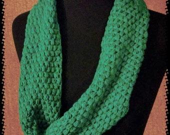 Seafoam braided back infinity scarf