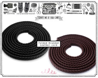 1Yard 9x7MM Flat Braided Leather Cord. For Necklace Bracelet Jewelry Making.