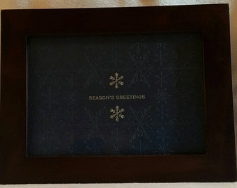 "Snowflake Print With Silver Accents - ""Season's Greetings"""