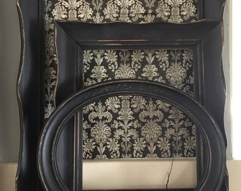Black Shabby Distressed Picture Frames