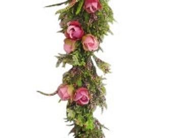 6' Pink Rose Garland