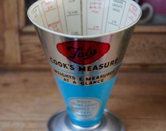 Original Vintage Retro 1950s Kitsch Metal Tala Cook's Measure Made In England
