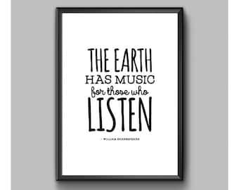 Digital Print – Shakespeare – The Earth