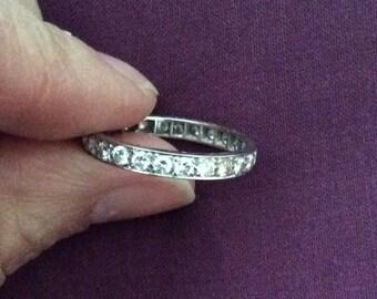 1920's Platinum Diamond Full Eternity