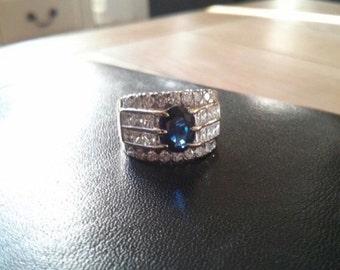 18ct 2ct Diamond & Sapphire Ring