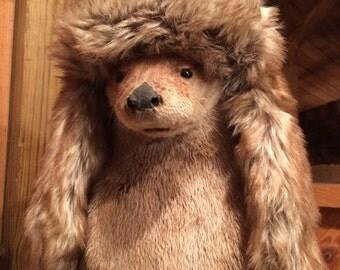 Child Fur Bomber Hat, Child Fur Trapper Hat, Baby Fur Bomber Hat, Baby Trapper Hat, Baby Winter Hat, Child Winter Hat, Childrens Bomber Hat