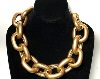 KLJ Kenneth Jay Lane Link Huge Bulky Chain Necklace