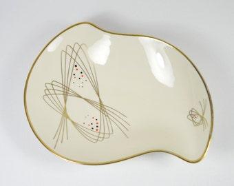 EDELSTEIN Bavaria Porcelana German dish with gold edge