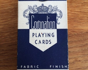 Coronation playing cards from King of the United Kingdom, George VI in mint condition from the coronation in1937. Unopened.