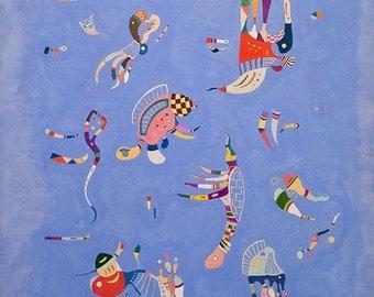 Sky Blue by Vassily Kandinsky - PDF Cross Stitch Pattern