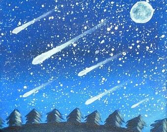 Table stars - starry sky painting and shooting stars - Sabrina RIGGIO