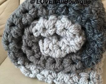 SALE! Chunky Wool Blanket, Crochet  Blanket, chunky crocheted blanket, Wool Blanket, Wool Throw, Throw Blanket, chunky yarn, crocheting