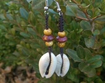 Cowrie Shell Earrings w/ Surgical Steel Hooks