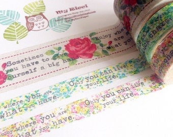Flower and text sample set (300cm)