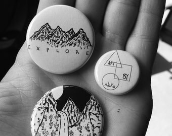 Pinback button 3 pack