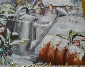 winter garden christmas card