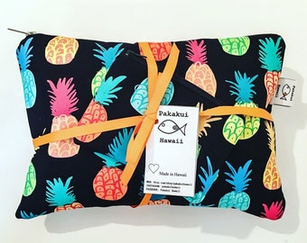 Made in Hawaii Clutch - Multicolor Pineapple Design