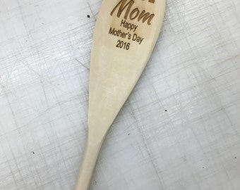 Laser Etched Wooden Spoon
