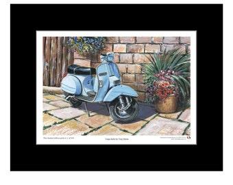 Vespa, Italia, Ltd Edition Print, Scooters, Lambretta