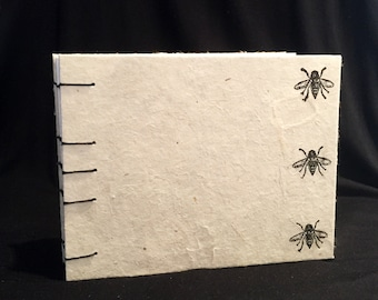 Small Bee Coptic Bound Journal