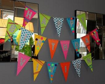 Happy Birthday Banner, First Birthday, Child's Birthday