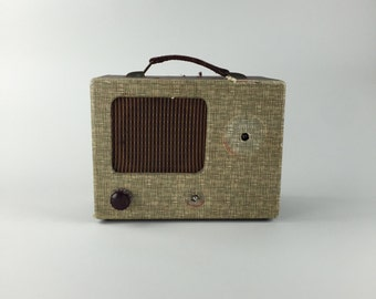 Rustic Industrial Tube Radio from the 1950's , great Repurpose Project