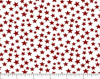 Choice Fabrics - Patriotic - Stars on White