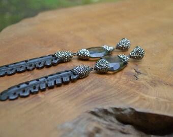 Crystal Wood Earrings
