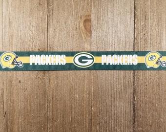 Green Bay Packers 7/8 Inch Grosgrain Ribbon