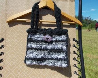 Black and Silver Handmade Bag