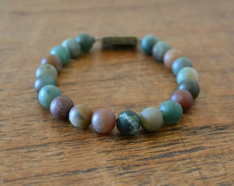 Bracelet Matt colored jasper