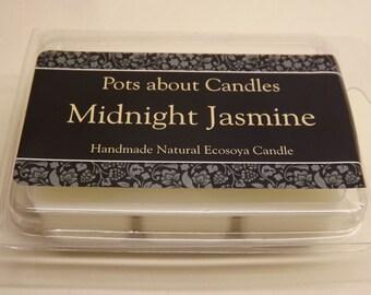 6 cavity clamshell wax melts Midnight Jasmine.