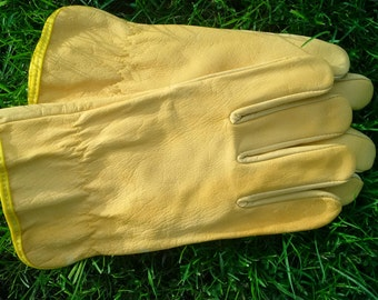 Lovely Soft Leather Work Gloves for Gardening or Any Outdoor Work