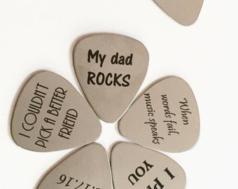 SALE! Engraved Guitar Pick, Personalized Guitar Pick, Custom Guitar Pick, Music Gift, Guitar Pick Necklace, Guitar Pick Keychain