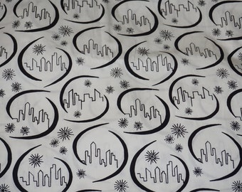 Boho Vibe Cotton Batik Skyline by Freshwater Designs  By the Yard