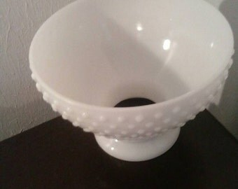 Hobnail milkglass for Lamp Chandelier. White Milkglass
