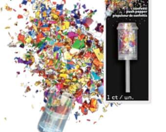 Multicolor Confetti Push Popper / Colorful Confetti Popper / Confetti Party Pop / Confetti Popper