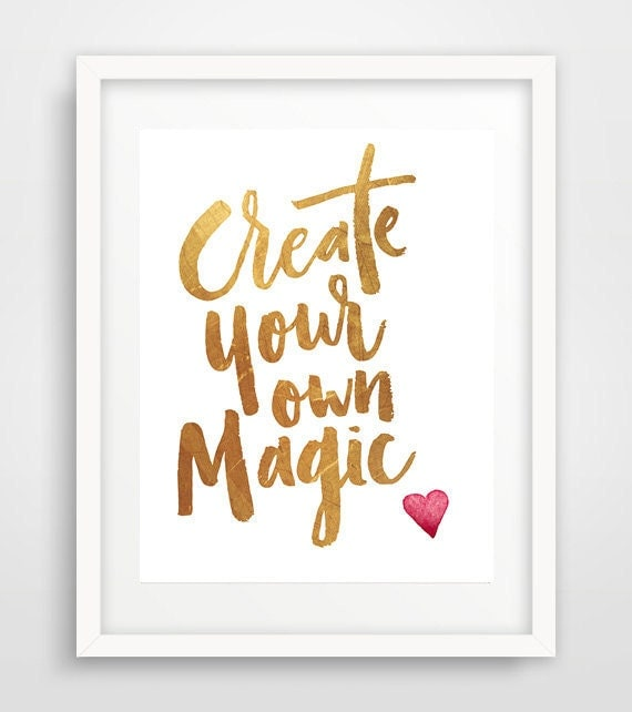 Create Your Own Magic Word Art Cool Poster Inspirational