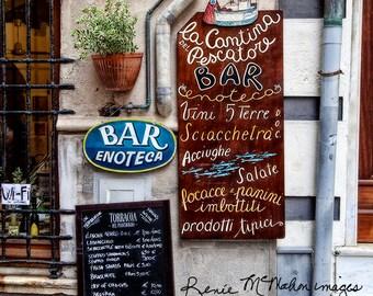Metal print photography, Italy photo, modern wall art, kitchen decor,cinque terre, Monterosso Italy, home decor,restaurant art,cinque terre,