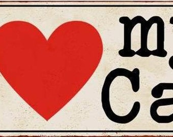 Metal sign I love my cat