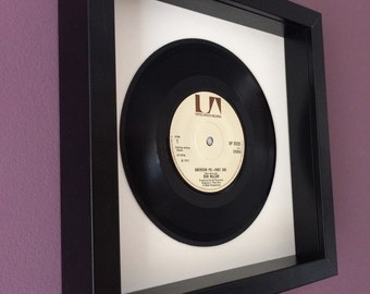"Don McLean ""American Pie"" - Framed Vinyl Gift"