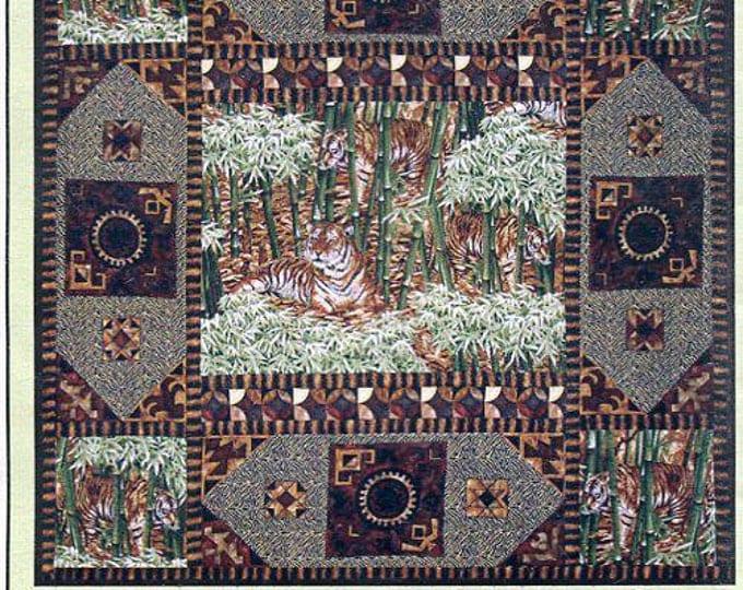 Free Usa Shipping Michael Miller Fabrics Quilt TIGER Tiger BURNING BRIGHT Quilt Craft Sewing Pattern Designer Marinda Steward