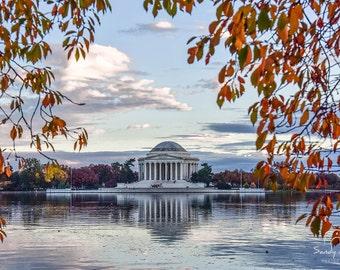 Jefferson Memorial, Washington DC Photography, Canvas Print, Paper Print, Washington DC Art, Home Decor, Office Decor