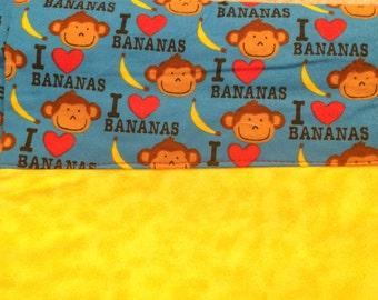 I LOVE BANANAS Funny pillowcases - Set of 3