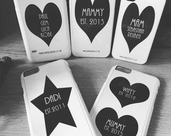 Personalised Monochrome iPhone / smartphone cases